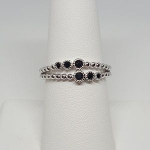 Jewelry - Sterling Silver Double Beaded Ring